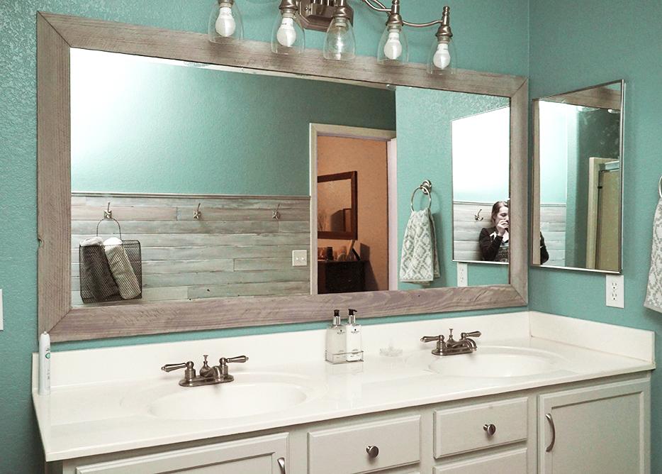 Diy Bathroom Mirror Frame For Under 10, Best Glue For Mirror Frame