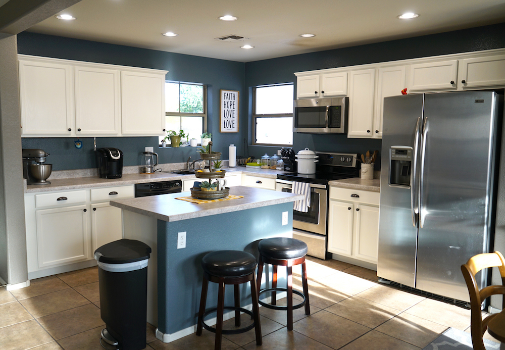 How To Paint Kitchen Cabinets White Tutorial Rise And Renovate